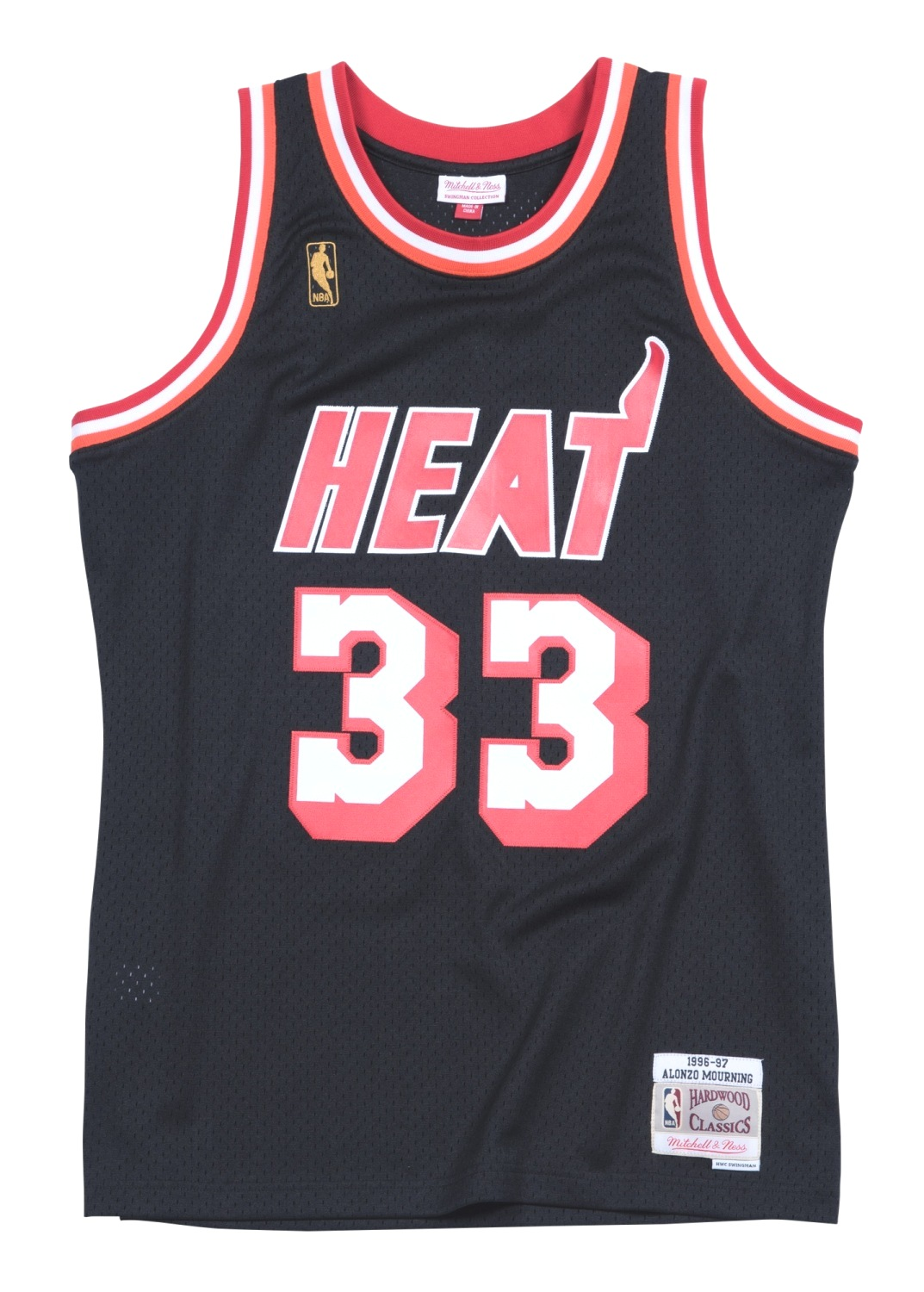 Alonzo Mourning Miami Heat Mitchell & Ness NBA Swingman HWC Jersey - Black