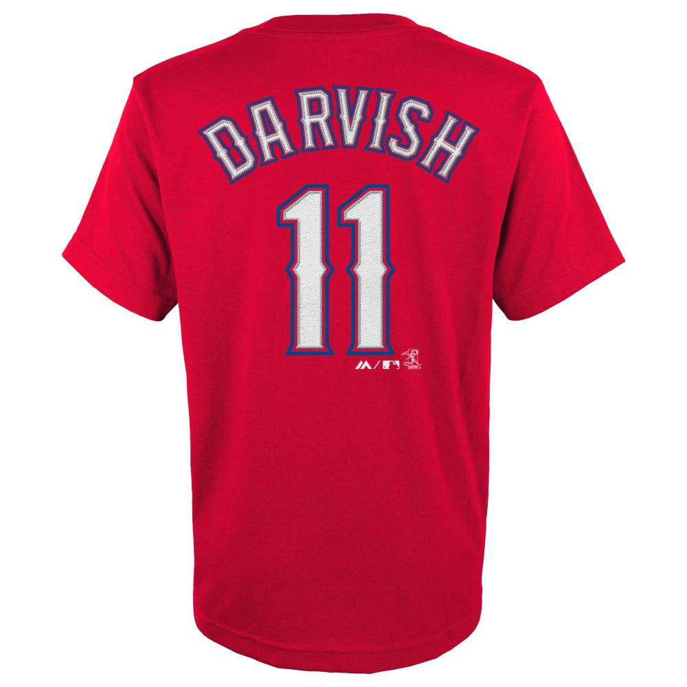 Yu Darvish Texas Rangers Youth Majestic MLB Player Red T-Shirt