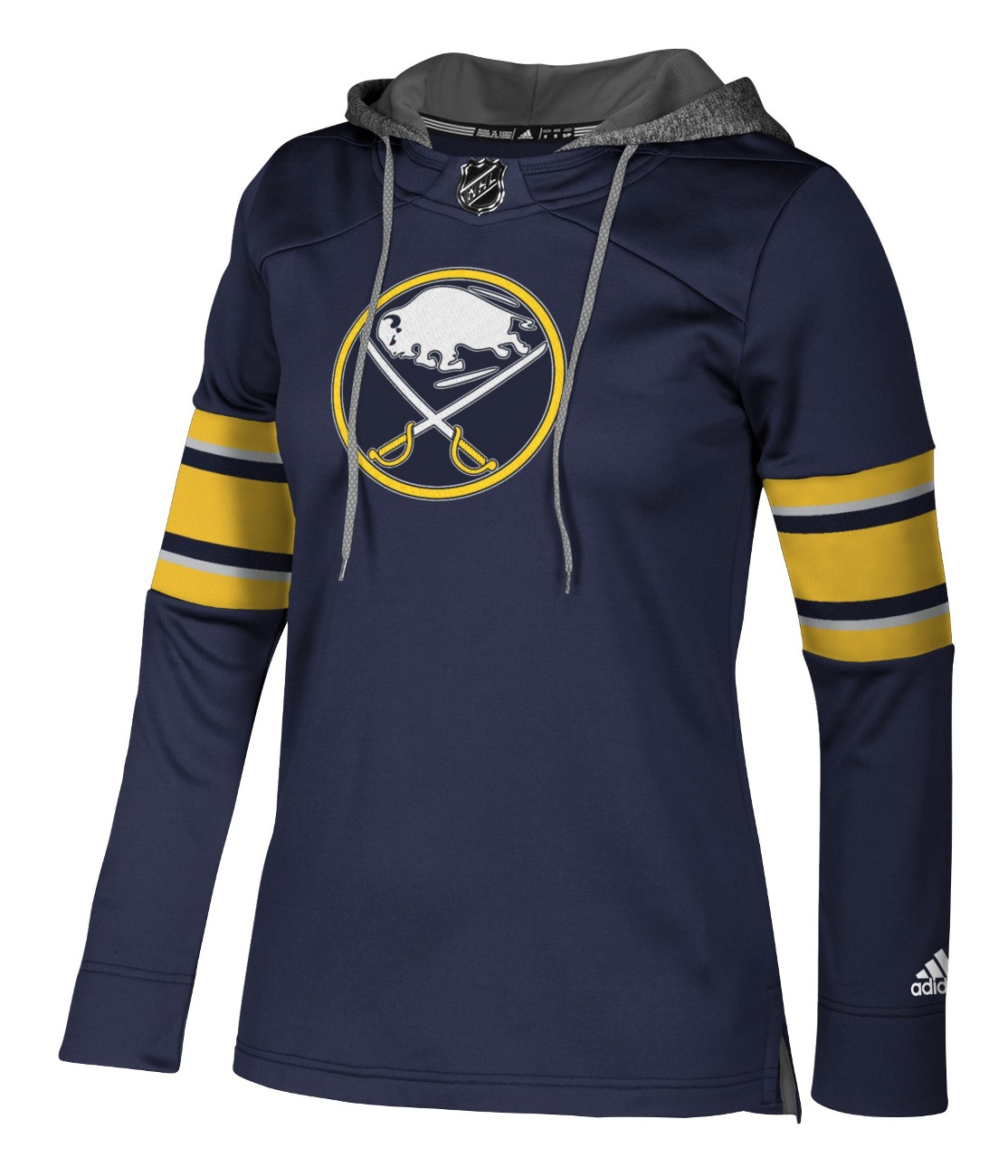 "Buffalo Sabres Women's NHL Adidas ""Crewdie"" Pullover Hooded Sweatshirt"