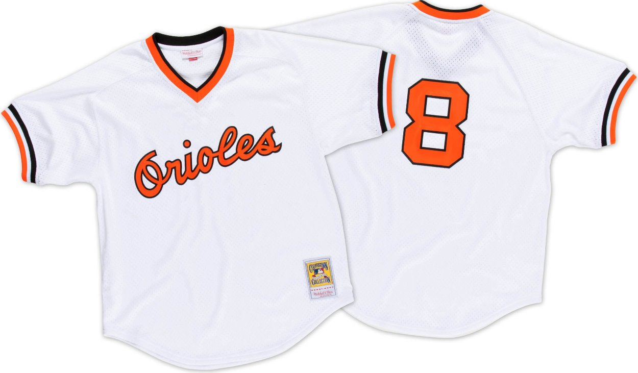 Cal Ripken Jr. Baltimore Orioles Mitchell & Ness Authentic 1985 BP Jersey - White