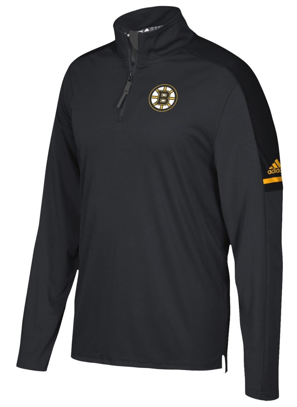 Boston Bruins Adidas NHL Men's 2017 Authentic Pro 1/4 Zip Wind Shirt