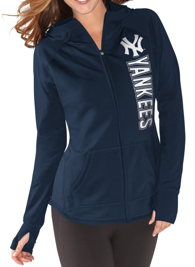 "New York Yankees Women's MLB G-III ""Regenerate"" Full Zip Hooded Sweatshirt"