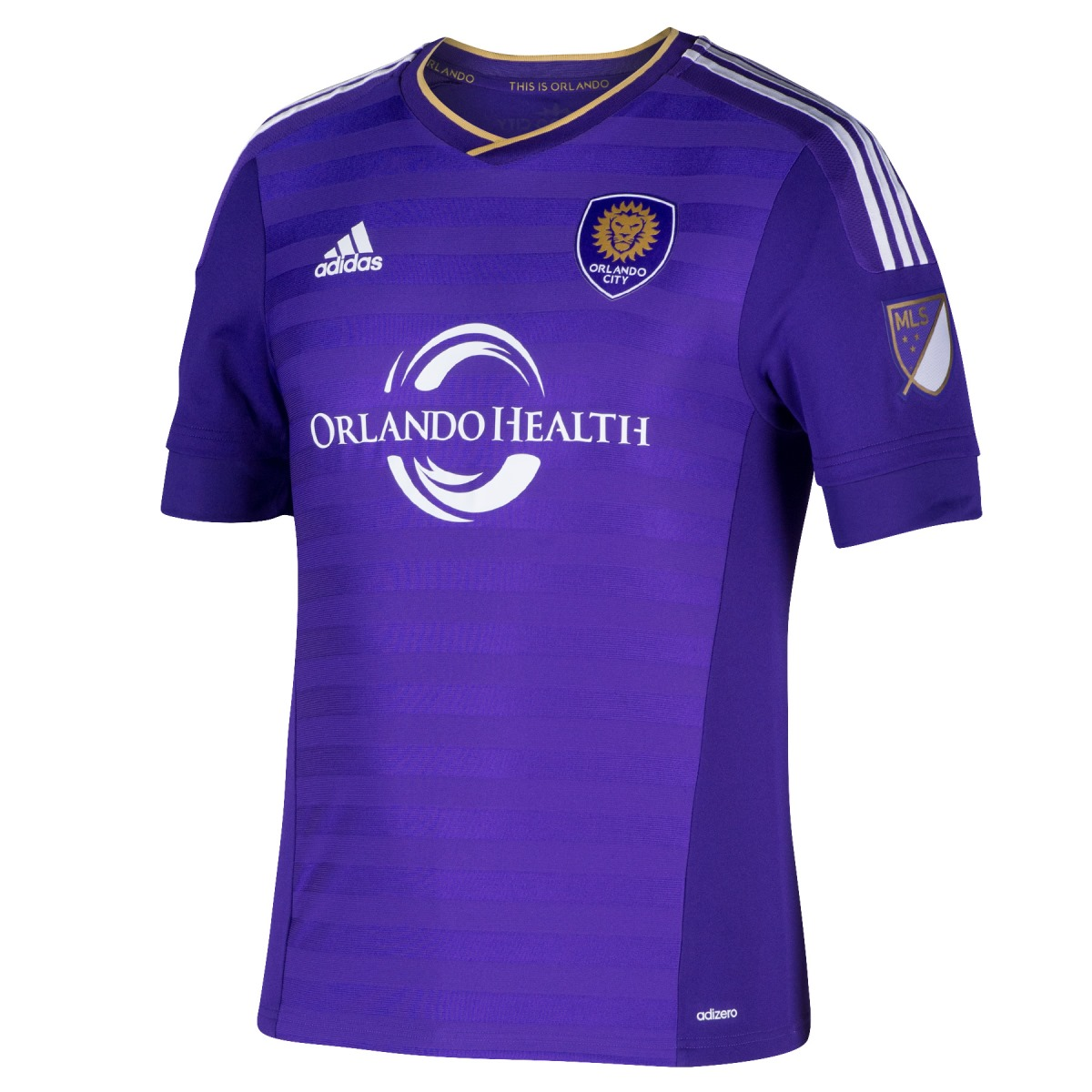 Orlando City SC Adidas MLS Men's Authentic On-Field Climalite S/S Jersey