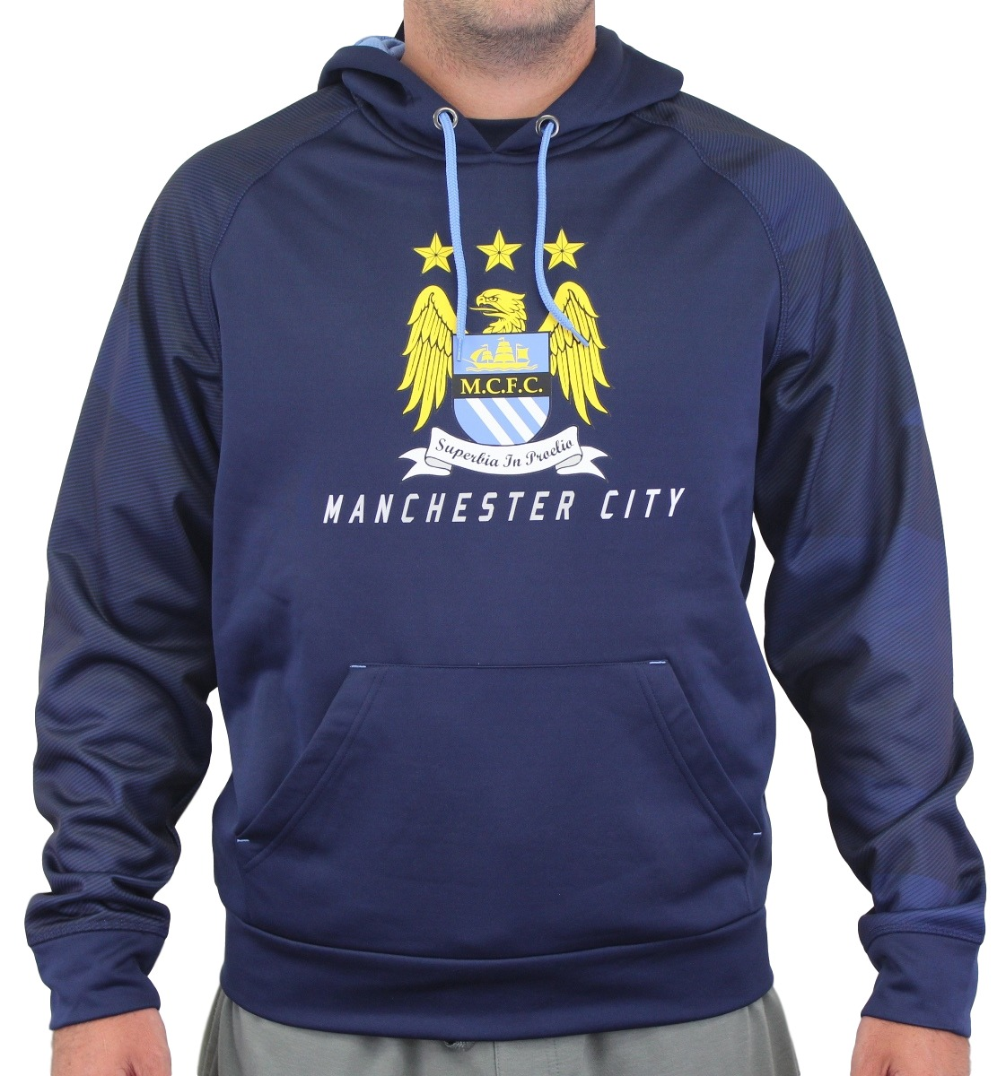 "Manchester City FC Majestic ""Armor"" Men's Pullover Hooded Sweatshirt"