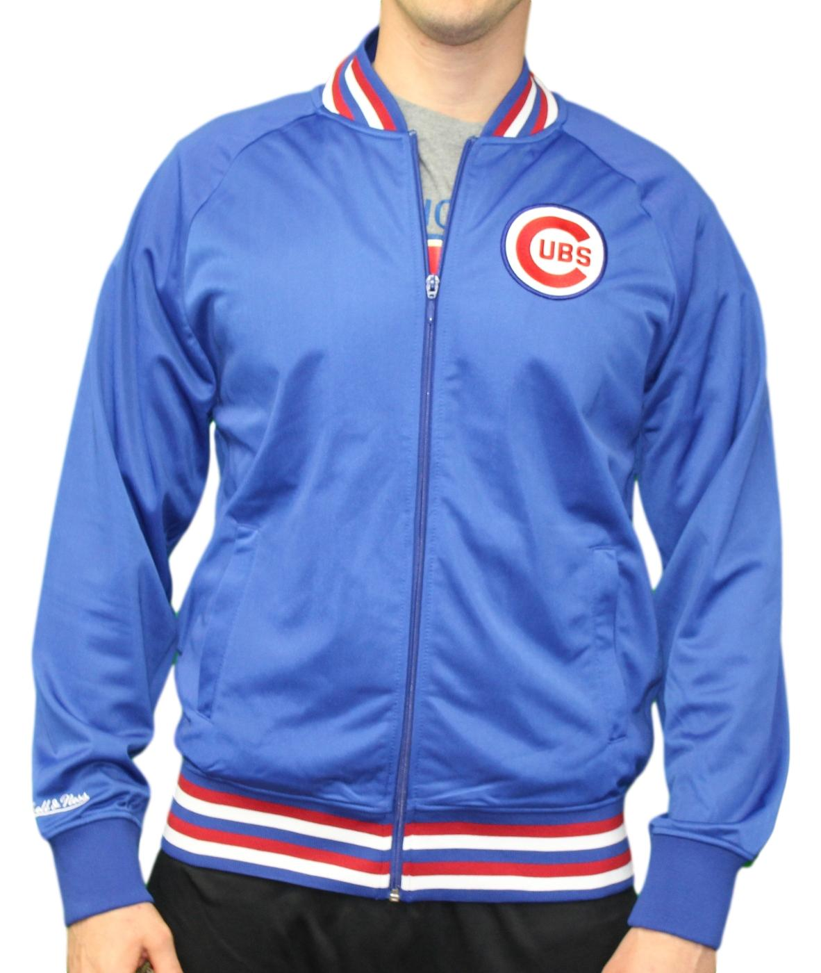 "Chicago Cubs Mitchell & Ness MLB Men's ""Top Prospect"" Full Zip Track Jacket"