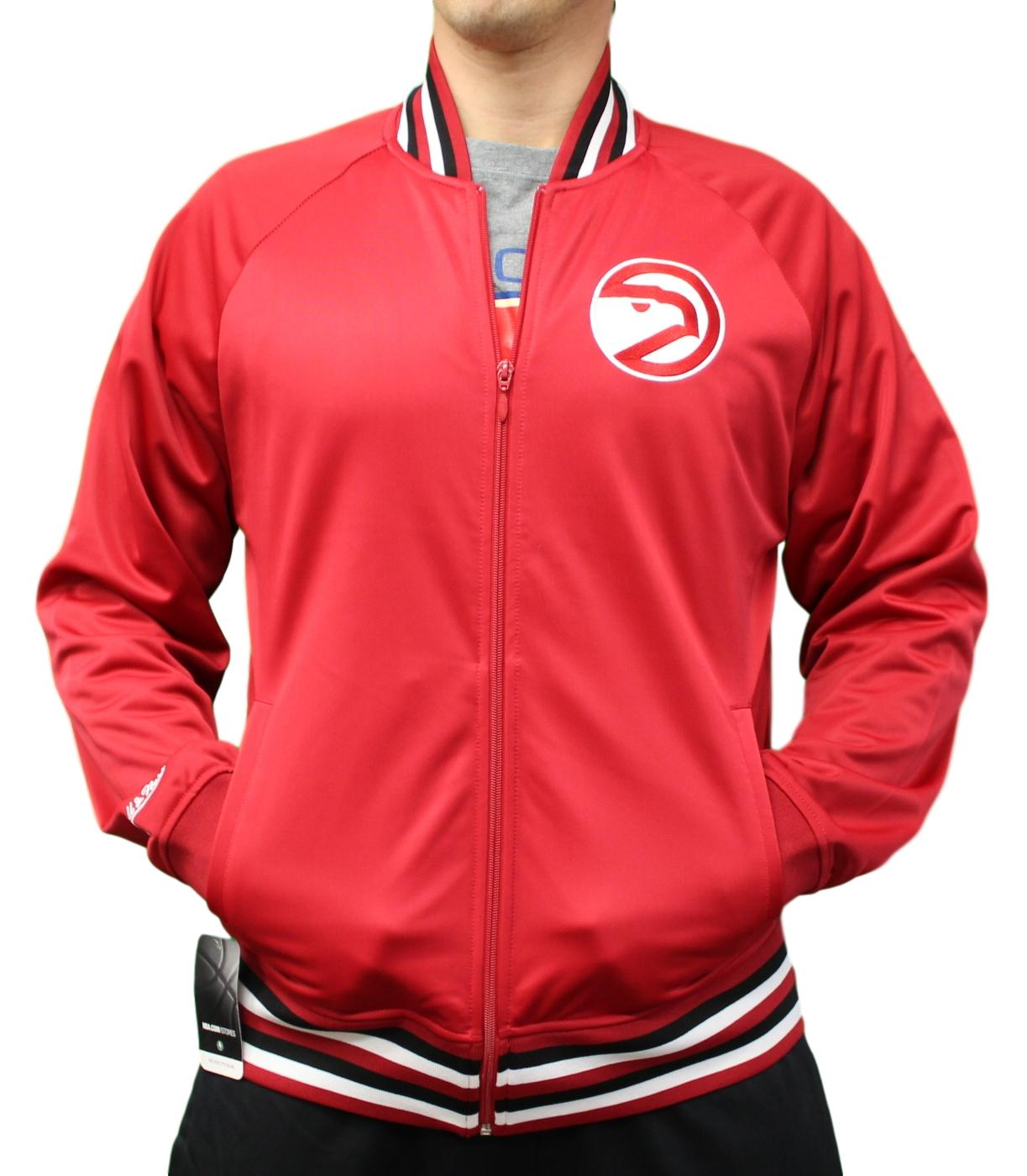 "Atlanta Hawks Mitchell & Ness NBA Men's ""Top Prospect"" Full Zip Track Jacket"