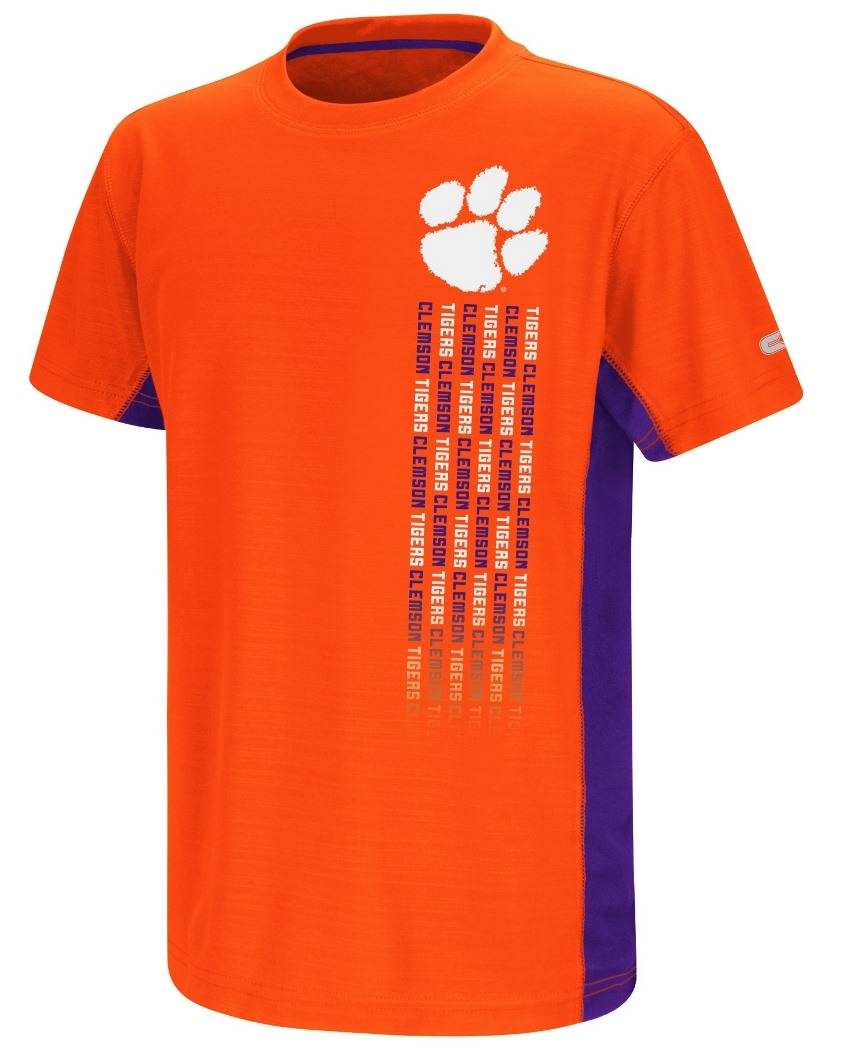 "Clemson Tigers NCAA ""Power Set"" Youth Short Sleeve Performance T-Shirt"