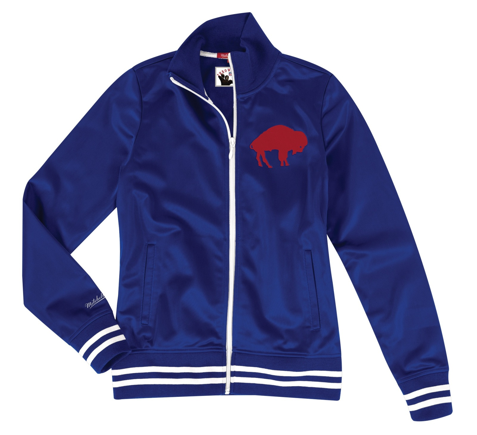 "Buffalo Bills Women's Mitchell & Ness NFL ""Gametime"" Premium Track Jacket"
