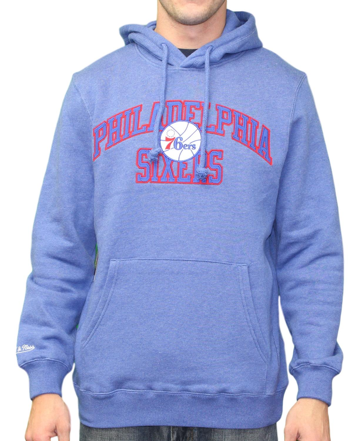 "Philadelphia 76ers Mitchell & Ness NBA ""Playoff Win"" Pullover Hooded Sweatshirt"