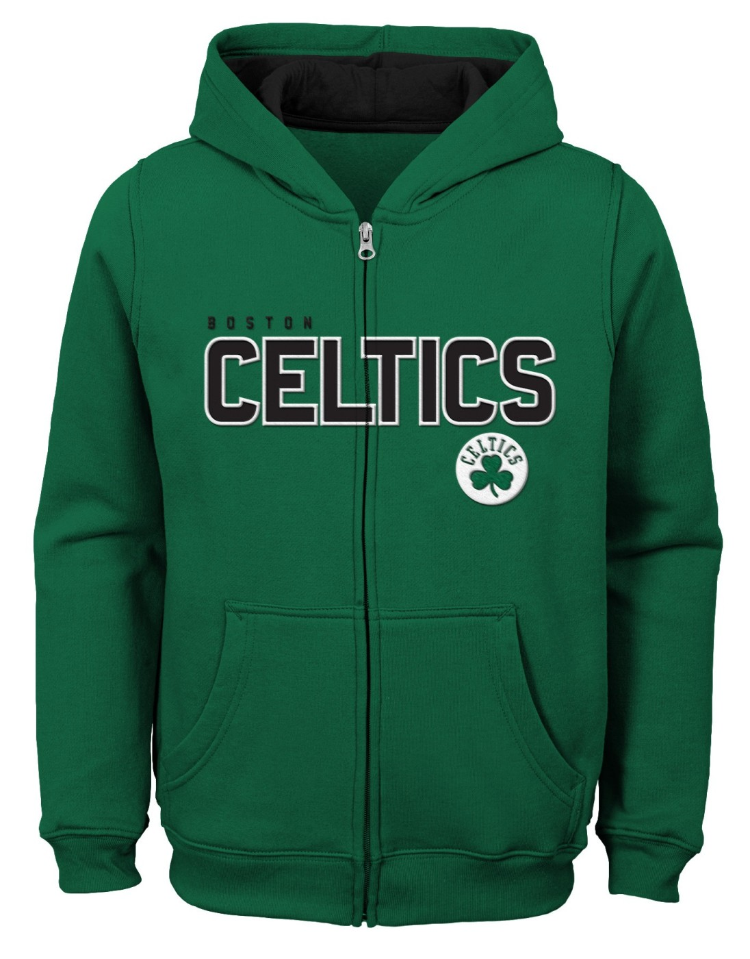 "Boston Celtics Youth NBA ""Rebound"" Full Zip Hooded Sweatshirt"