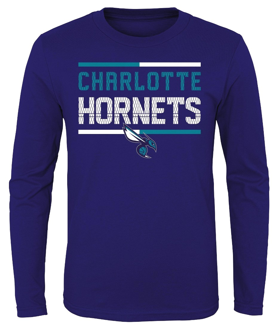 "Charlotte Hornets Youth NBA ""Ultra"" Long Sleeve Premium Dual Blend T-Shirt"