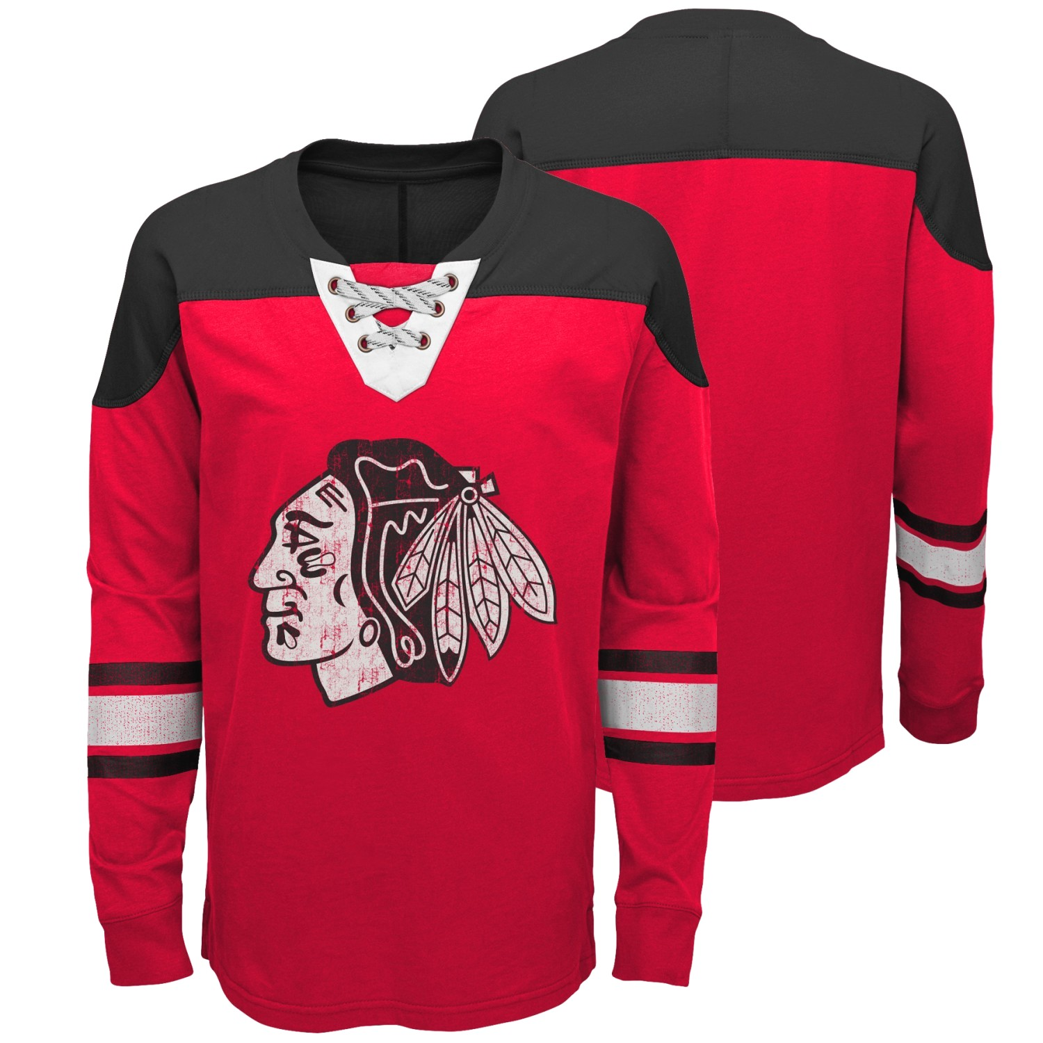"Chicago Blackhawks NHL ""Perennial"" Youth Long Sleeve Hockey Crew Shirt"