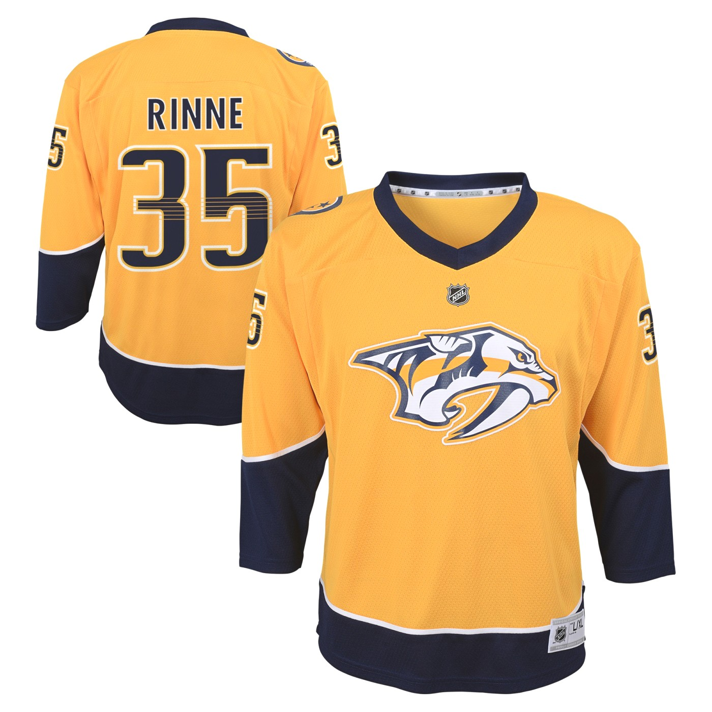 Pekka Rinne Nashville Predators Youth NHL Yellow Replica Hockey Jersey