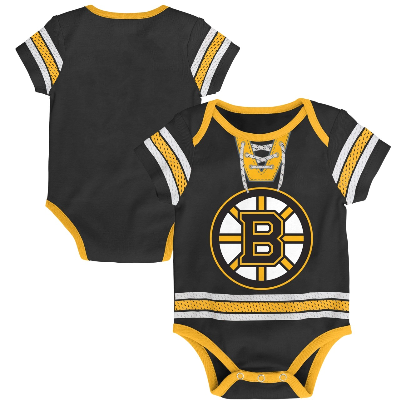 "Boston Bruins NHL ""Cherry Picking"" Infant Bodysuit Creeper Set"