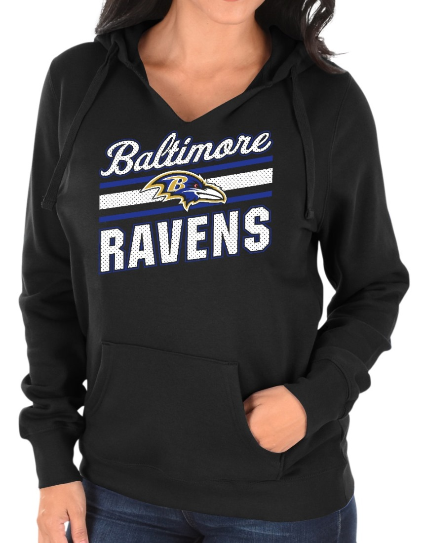 "Baltimore Ravens Women's Majestic NFL ""Highlight Play"" Hooded Sweatshirt"