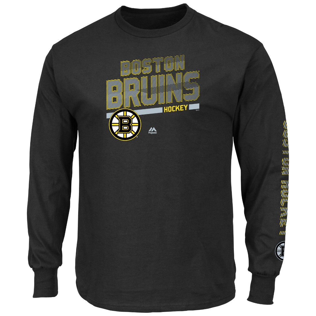 "Boston Bruins Majestic NHL ""Brawl"" Long Sleeve Men's T-Shirt"