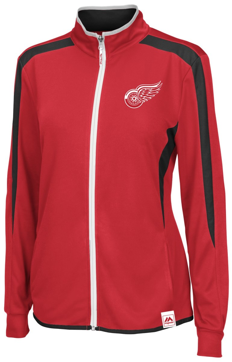 Detroit Red Wings Women's Majestic NHL Full Zip Lightweight Performance Jacket