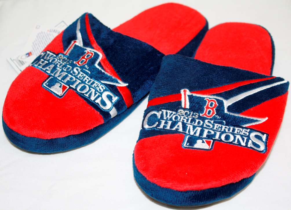 Boston Red Sox MLB 2013 World Series Champions Slippers