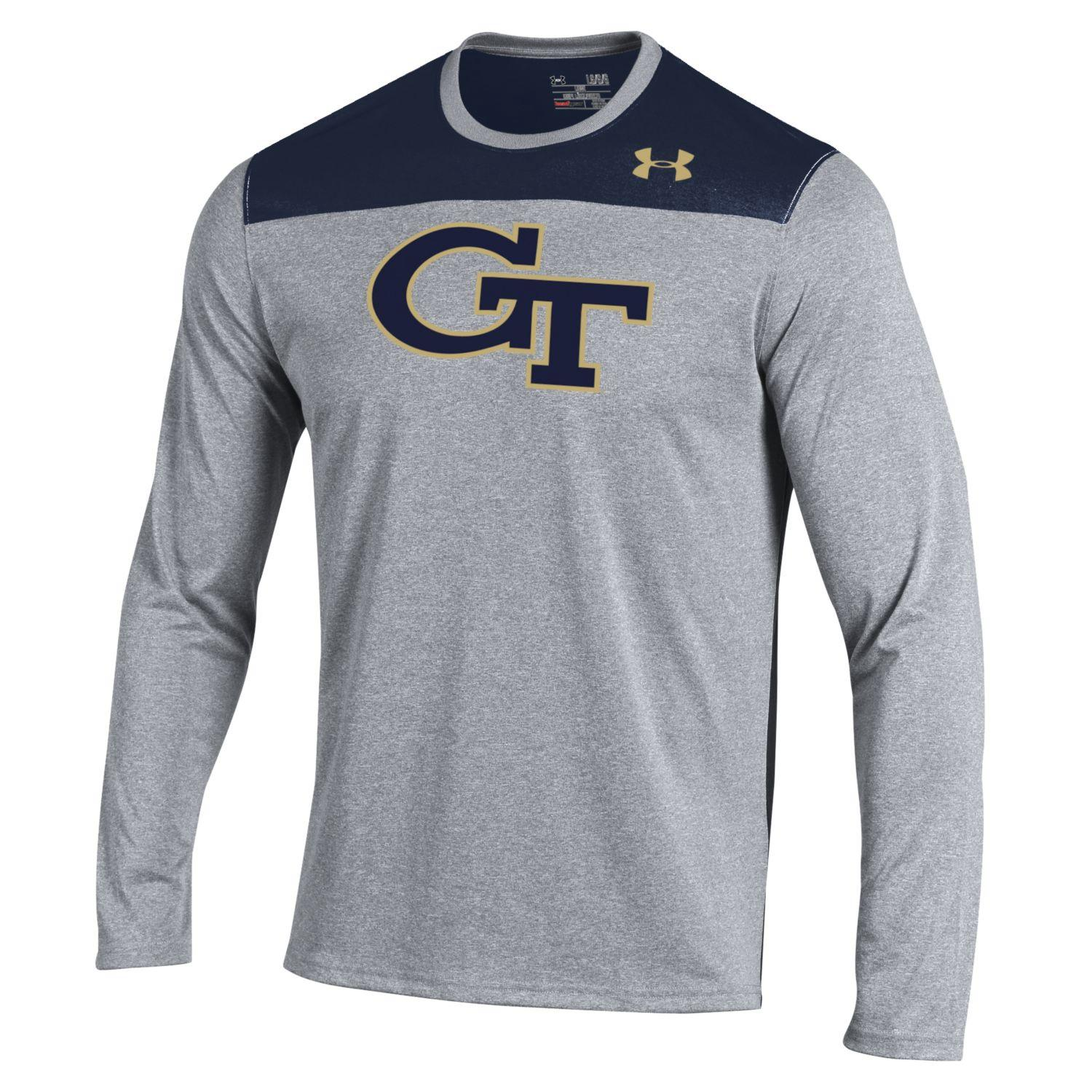Georgia Tech Yellowjackets Under Armour Defensive Stop Performance L/S Shirt