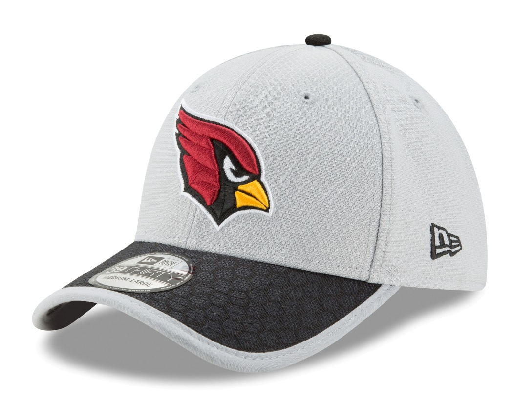 Arizona Cardinals New Era NFL 39THIRTY 2017 Sideline Gray Flex Fit Hat