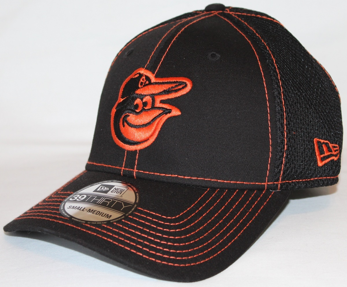 Baltimore Orioles MLB New Era 39THIRTY Black Team Neo Fitted Hat