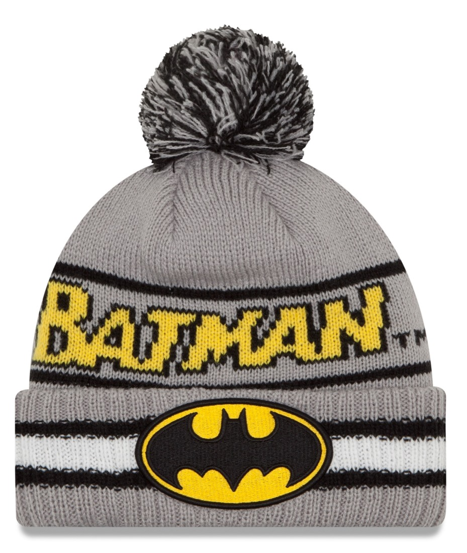 "Batman New Era ""Vintage Select"" Cuffed Knit Hat with Pom"