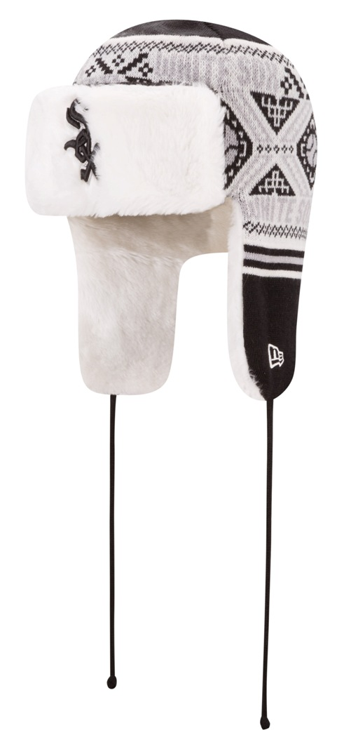 "Chicago White Sox New Era MLB ""Festive Trapper"" Fur Lined Knit Hat"