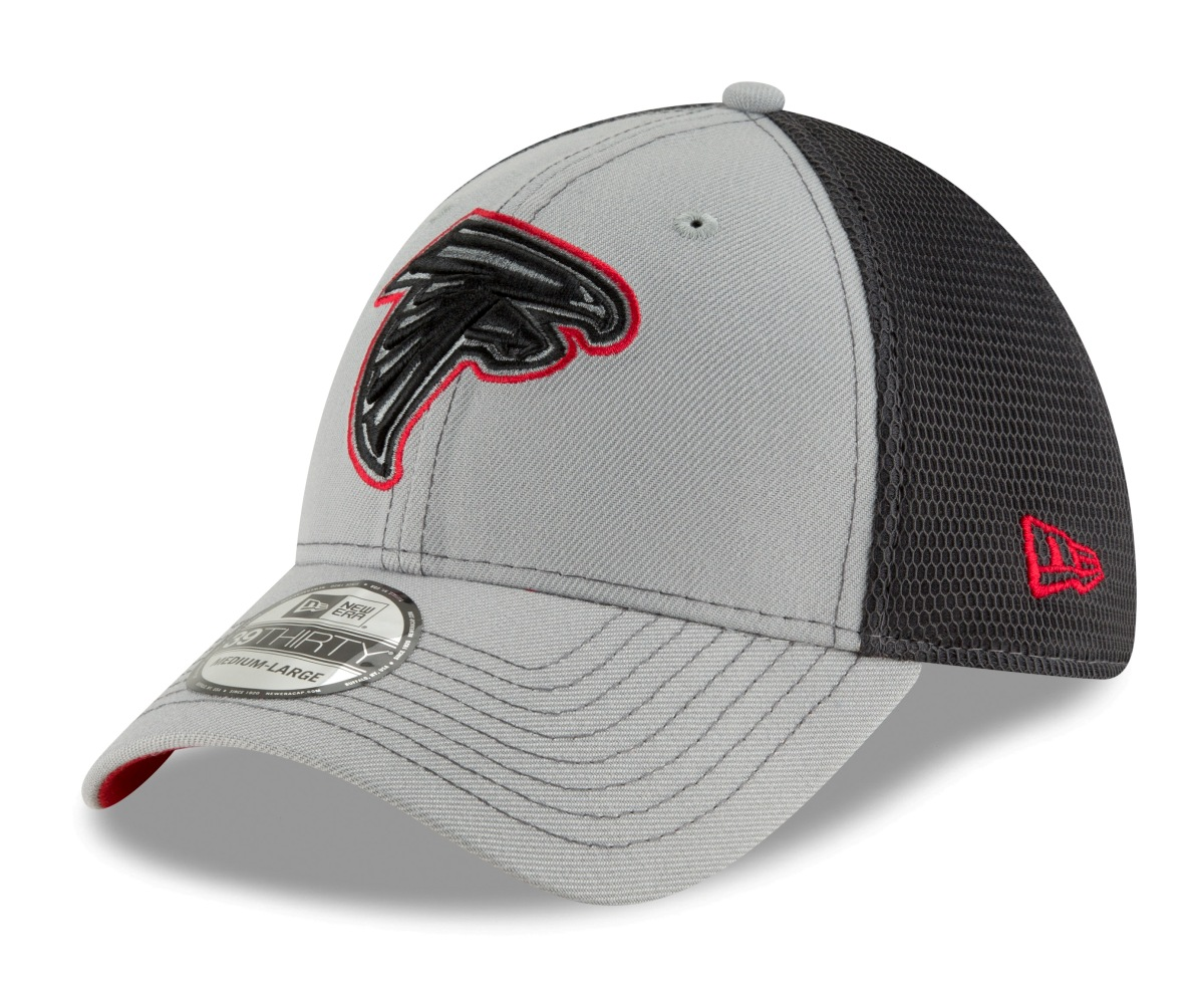 "Atlanta Falcons New Era NFL 39THIRTY ""2T Sided"" Flex Fit Meshback Hat - Gray"