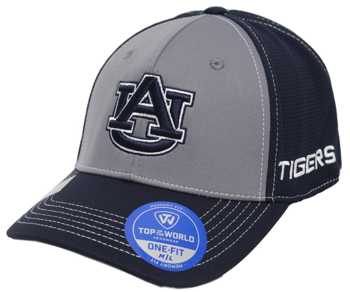 "Auburn Tigers NCAA TOW ""Dynamic"" Memory Fit Performance Mesh Hat"