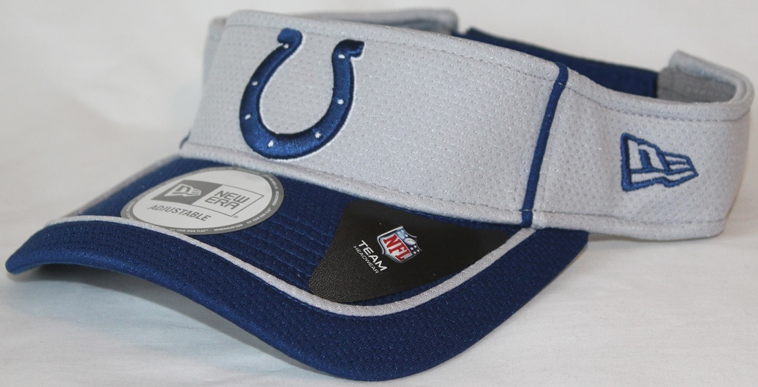 Indianapolis Colts New Era NFL Energy Pipe Performance Visor
