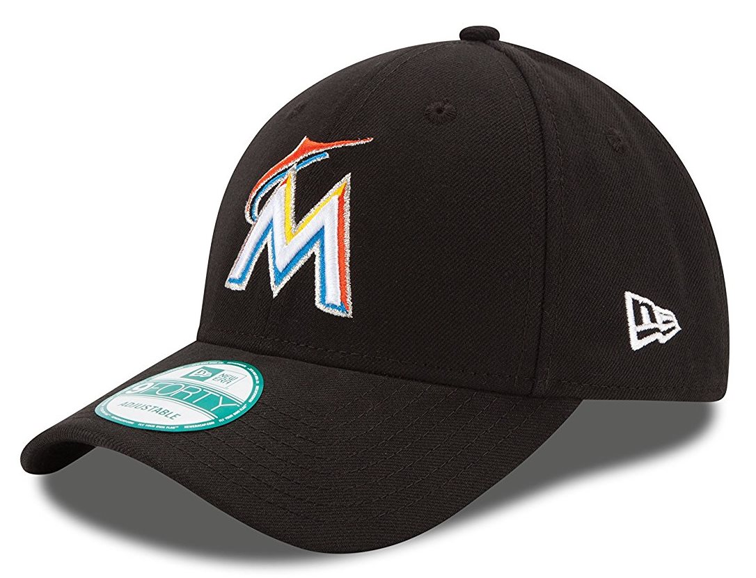 "Miami Marlins New Era Youth MLB 9Forty ""The League"" Adjustable Hat"