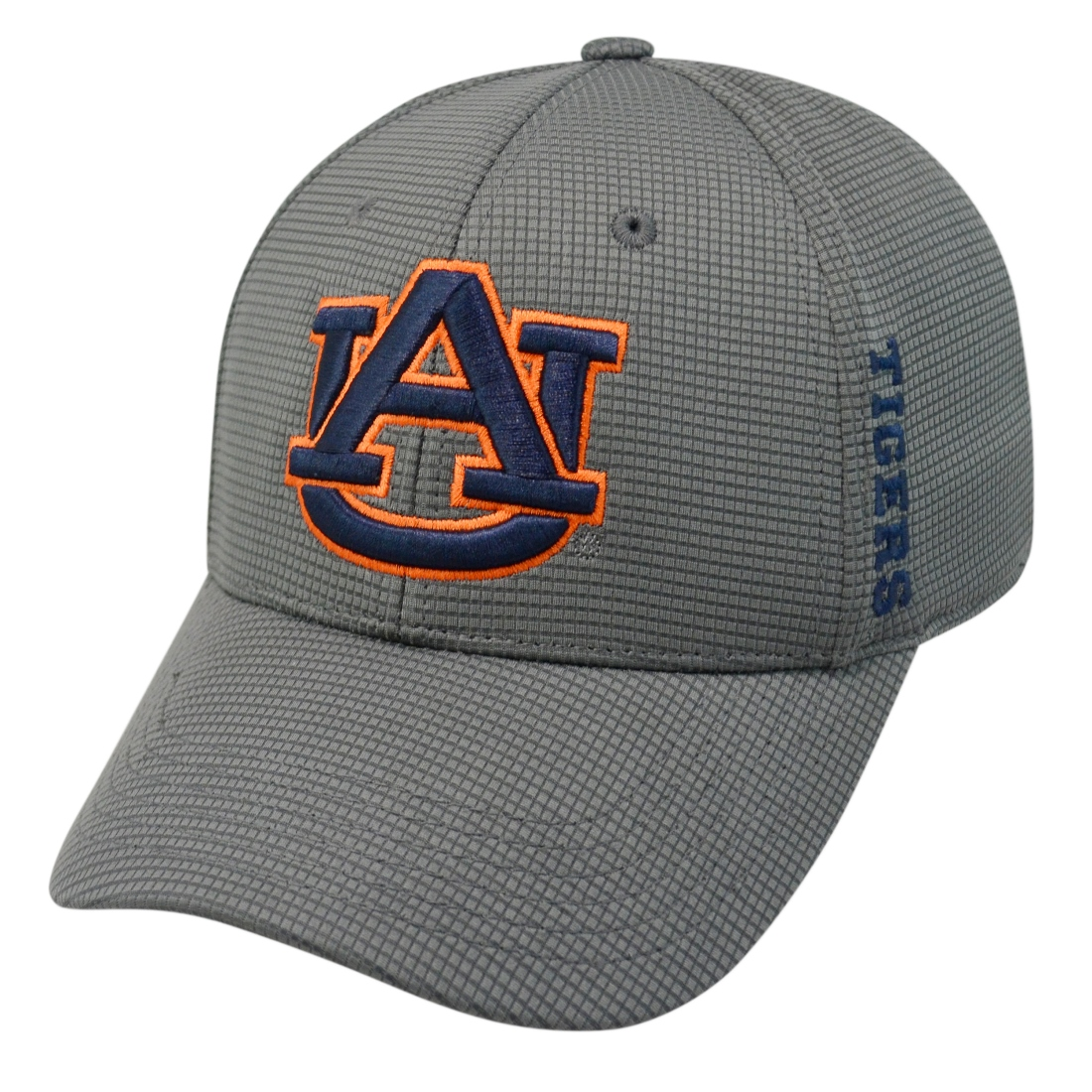 "Auburn Tigers NCAA TOW ""Booster Plus"" Memory Fit Flex Hat - Charcoal"