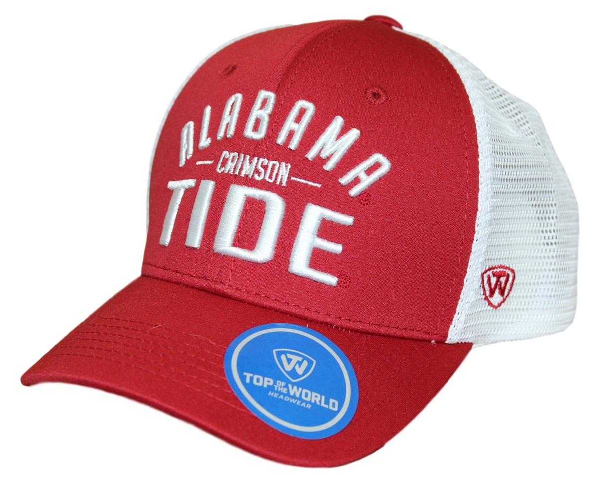 "Alabama Crimson Tide NCAA Top of the World ""Trainer"" Adjustable Mesh Back Hat"
