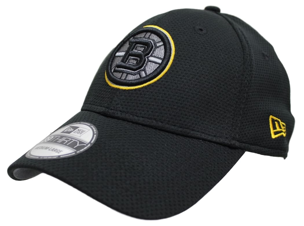 "Boston Bruins New Era NHL 39THIRTY ""Black Tone Tech"" Flex Fit Hat"