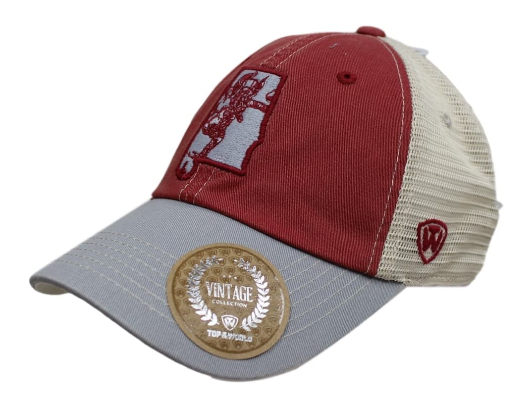 "Alabama Crimson Tide NCAA Top of the World ""VC Offroad"" Adjustable Mesh Back Hat"