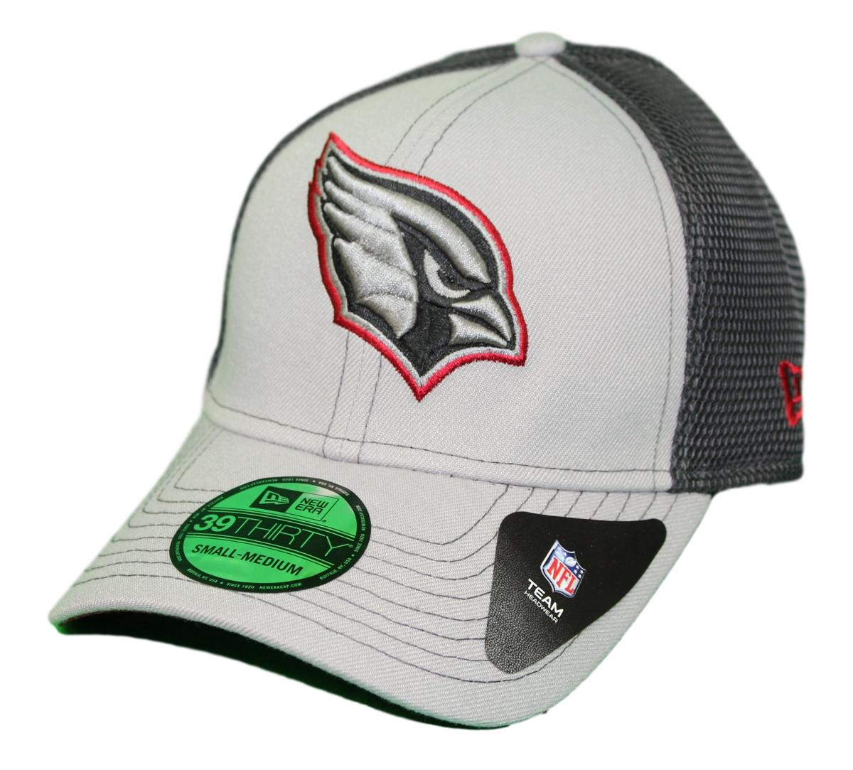 "Arizona Cardinals New Era NFL 39THIRTY ""2T Sided"" Flex Fit Meshback Hat - Gray"
