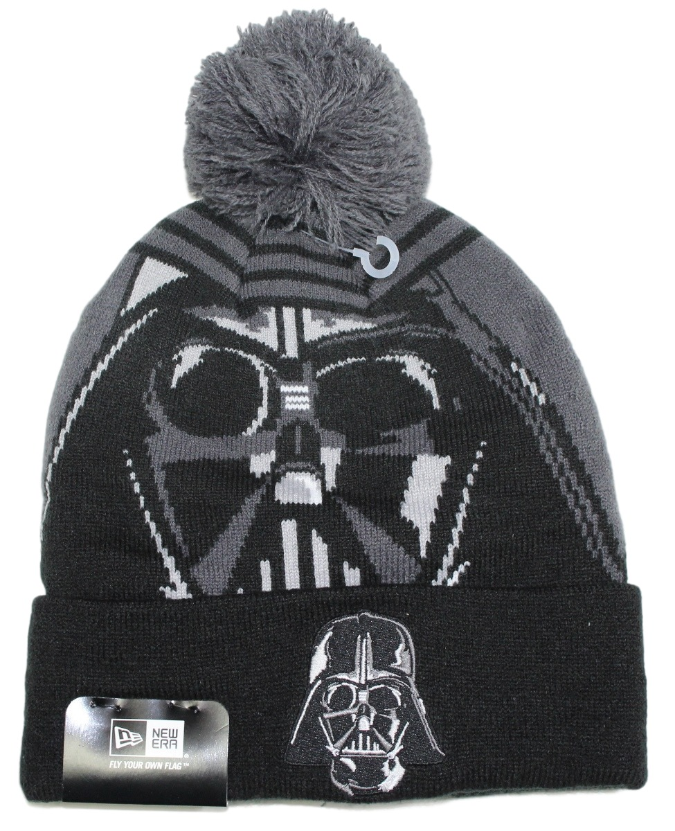 "Darth Vader Star Wars New Era ""Logo Whiz 2"" Cuffed Knit Hat with Pom"