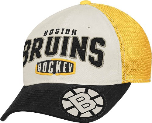 Boston Bruins CCM Throwback Garment Washed Meshback Flex Slouch Hat