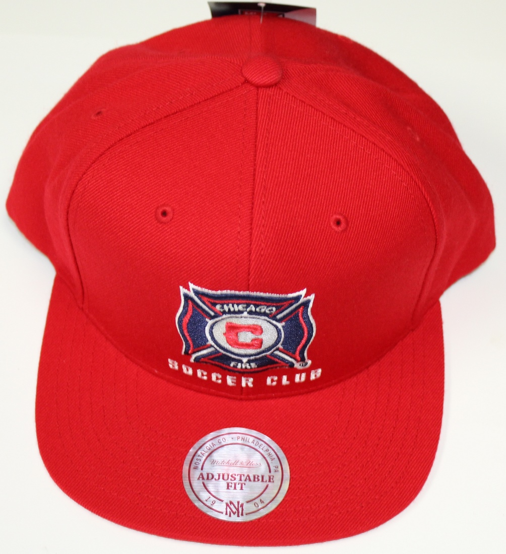 "Chicago Fire MLS Mitchell & Ness ""Team Solid"" Snap Back Hat"