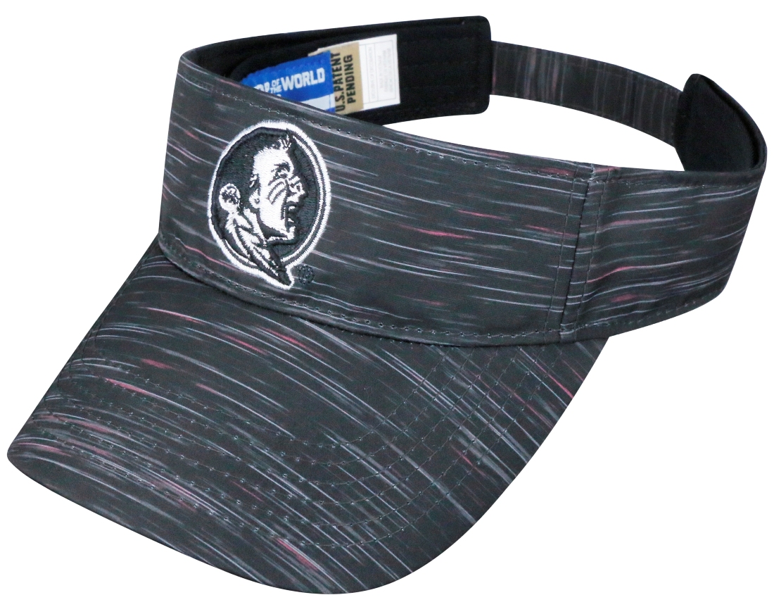 "Florida State Seminoles NCAA Top of the World ""Obsidian"" Adjustable Visor"