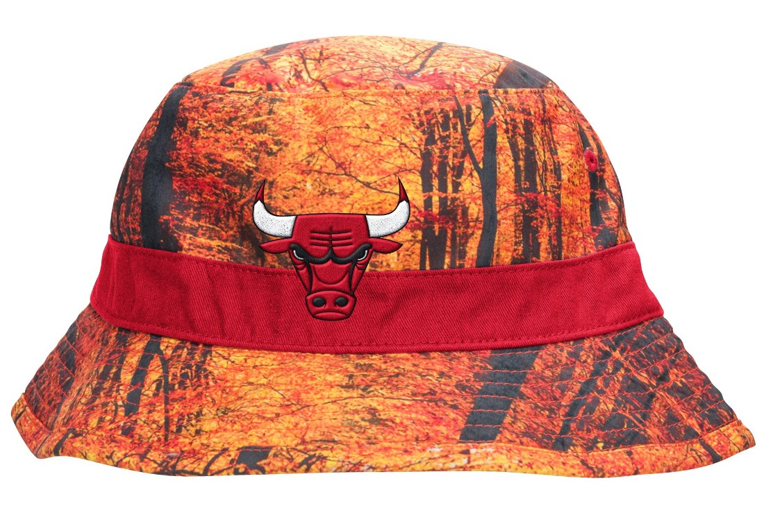 "Chicago Bulls Mitchell & Ness NBA ""Forest Camo"" Bucket Hat"