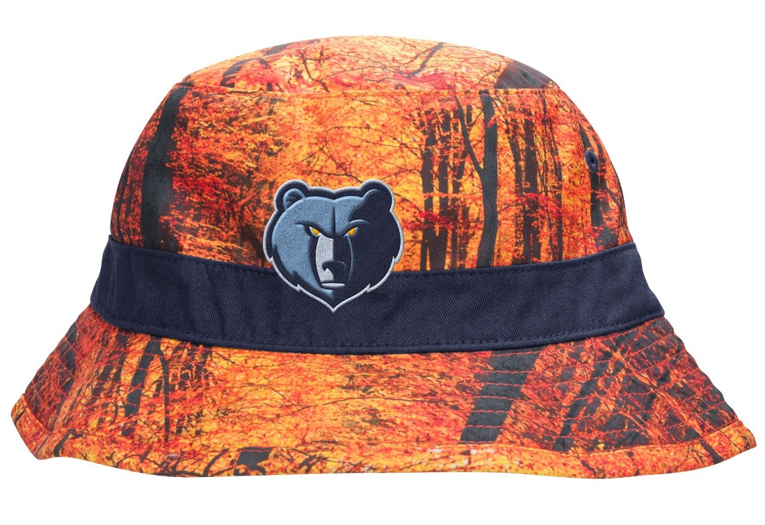 "Memphis Grizzlies Mitchell & Ness NBA ""Forest Camo"" Bucket Hat"