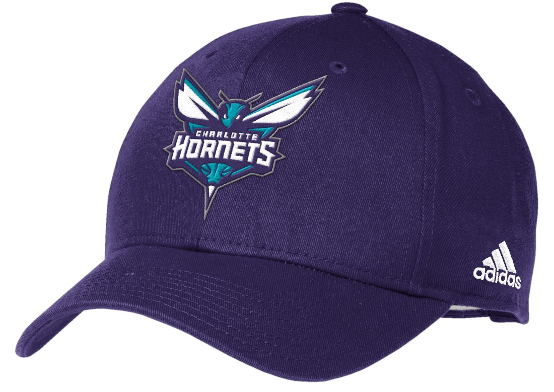 Charlotte Hornets Adidas NBA Basics Structured Adjustable Hat