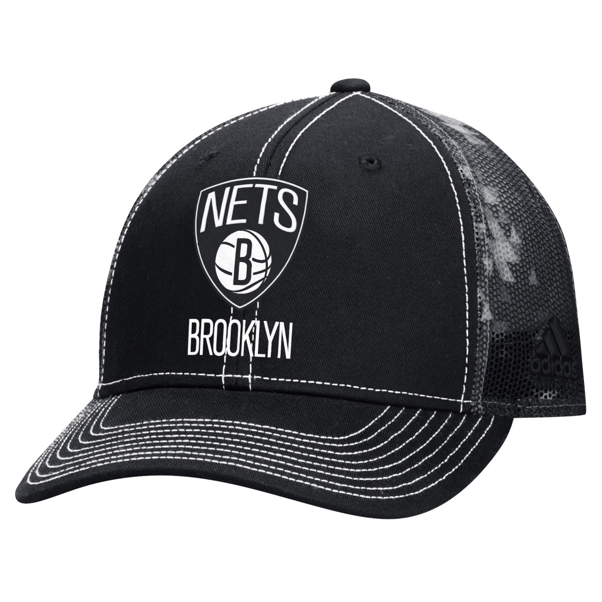 "Brooklyn Nets Adidas NBA ""City Pulse"" Structured Adjustable Hat"