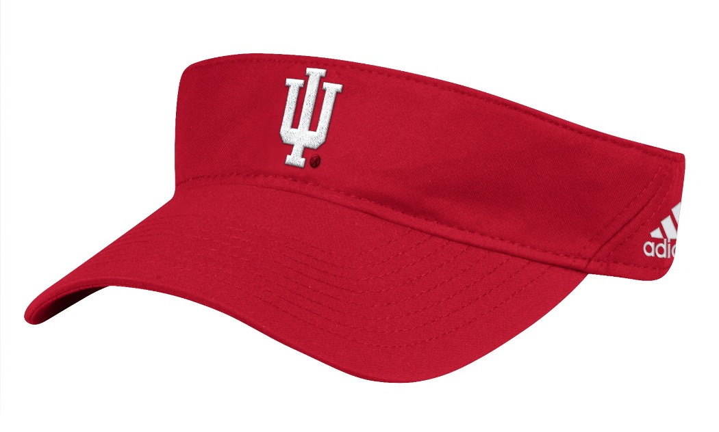 "Indiana Hoosiers Adidas NCAA ""Coaches"" Performance Adjustable Visor"