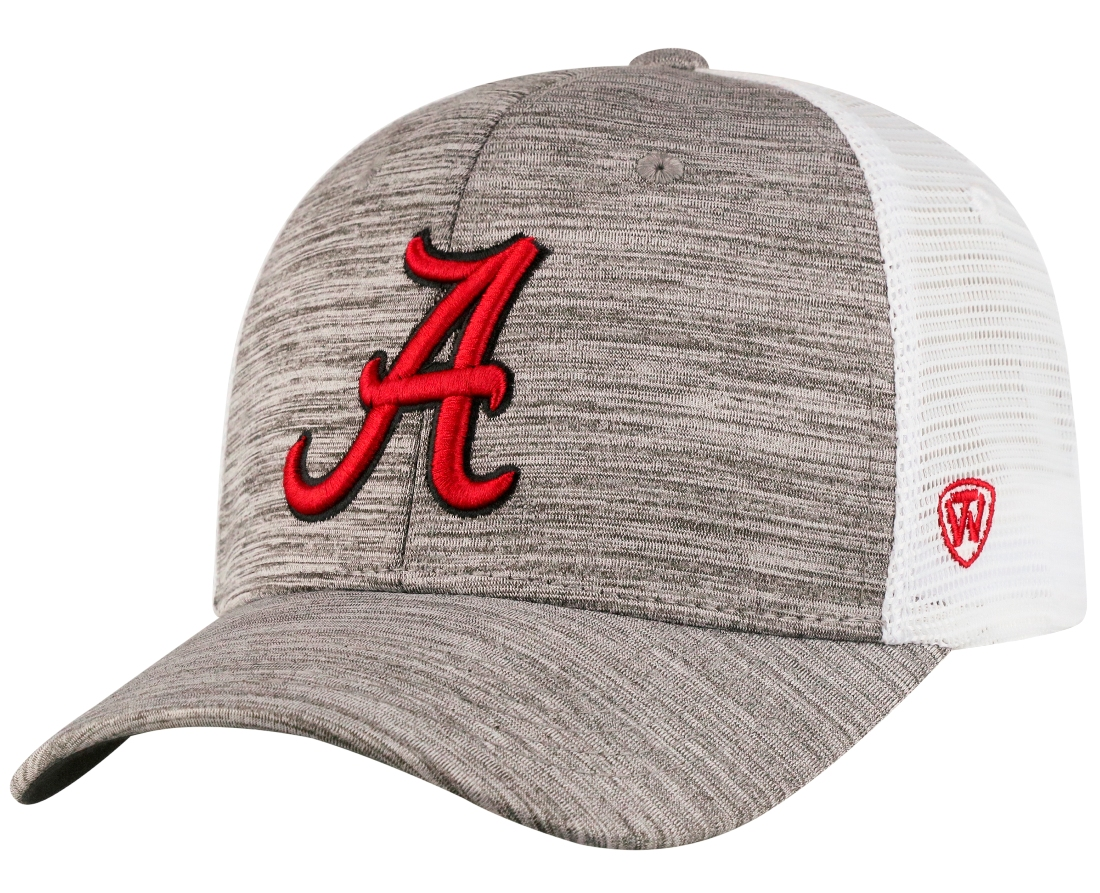 "Alabama Crimson Tide NCAA Top of the World ""Warm Up"" Adjustable Mesh Back Hat"