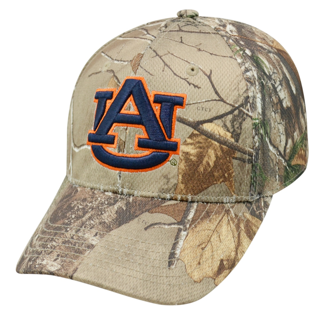 "Auburn Tigers NCAA Top of the World ""Xtra"" RealTree Camo Memory Fit Hat"