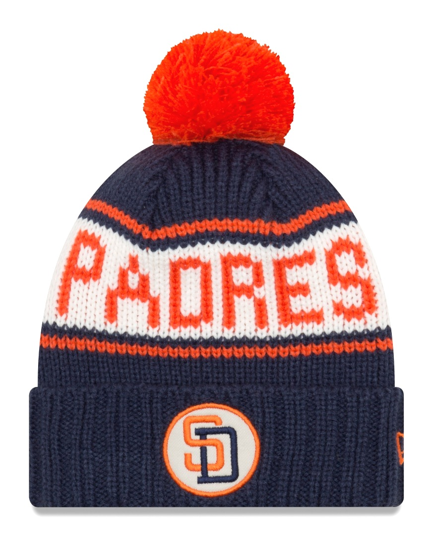 San Diego Padres New Era 9Twenty Cooperstown Retro Patch Cuffed Knit Hat - 1991