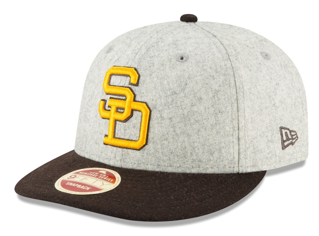 "San Diego Padres New Era 9FIFTY MLB Cooperstown ""Melton Wool"" Snapback Hat"