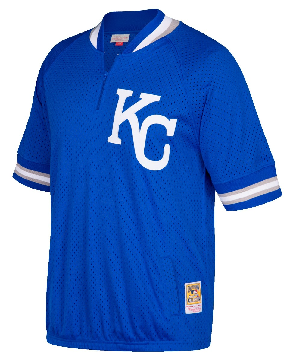 Kansas City Royals Mitchell & Ness MLB Authentic 1/4 Zip 1992 Warm-Up Jacket
